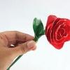 Робимо квітка з атласної стрічки. Троянда
