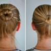 Як зібрати волосся в пучок?