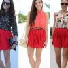 З чим носити червону спідницю?