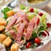 """Салат з шинкою і сиром - новий рецепт салату """"грибна поляна"""""""